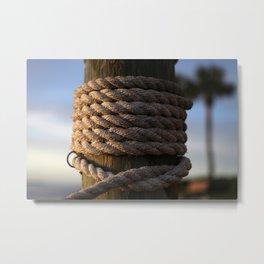 Dock Rope  Metal Print