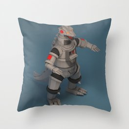 Mecha Godzilla Throw Pillow
