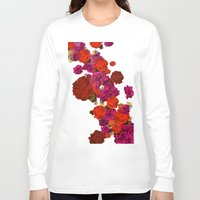 roses Long Sleeve T-shirts featuring roses by Marcella Wylie