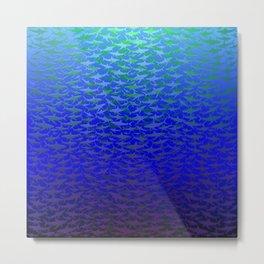 Sharks In Deep Water. Metal Print