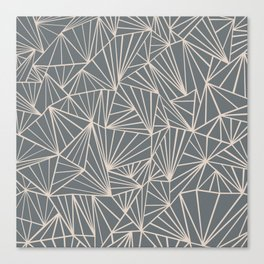 Ab Fan Grey And Nude Canvas Print