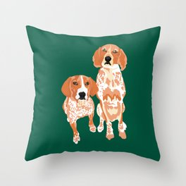 Gracie and George Throw Pillow