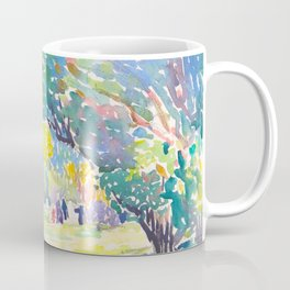 Watercolor Landscape by Henri-Edmond Cross 1904 Neo-Impressionism Pointillism Watercolor Coffee Mug