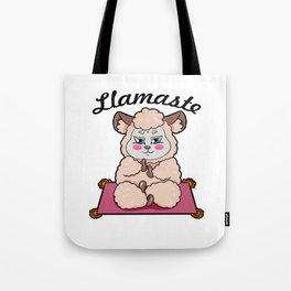 llamaste Llama Namaste Tote Bag