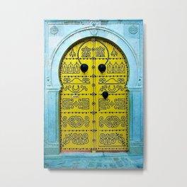Ornate Tunisian Doorway Metal Print