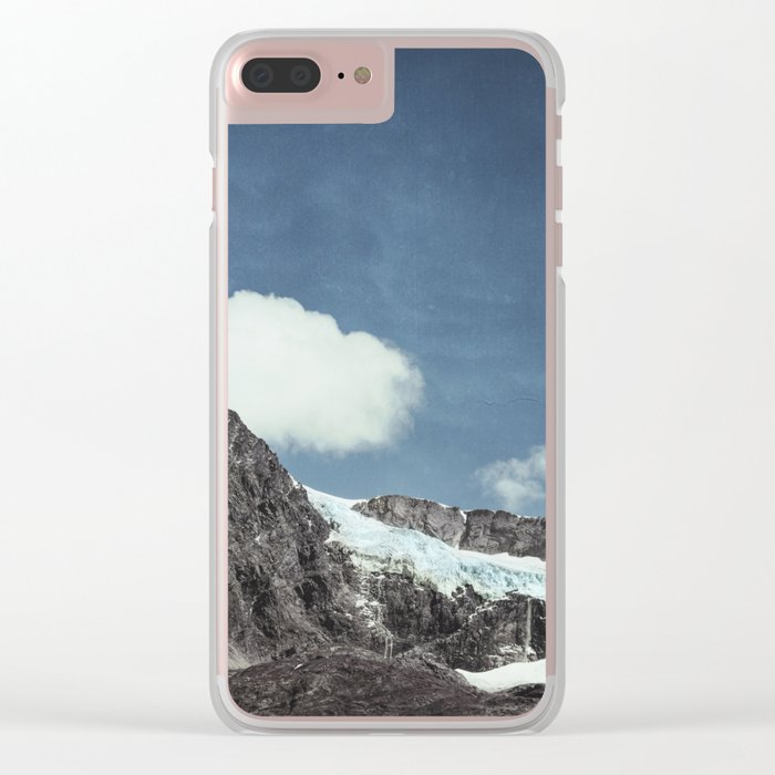 mountains and ice Clear iPhone Case