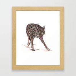 Big bad wolf Framed Art Print