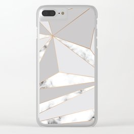 Marble & Geometry 044 Clear iPhone Case