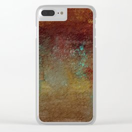 Copper, Gold, and Turquoise Textures Clear iPhone Case