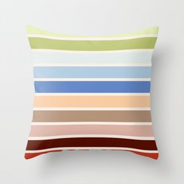 The colors of - Porco Rosso Throw Pillow