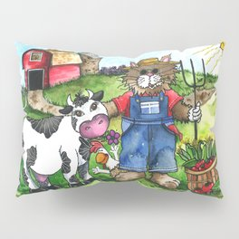 Farmer Fluffy at Harvest Time Pillow Sham
