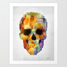 Skull Grunge Paint Art Print