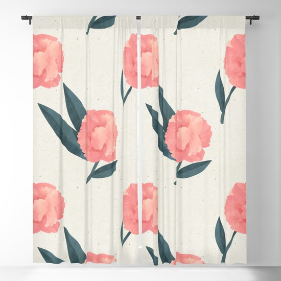 Seamless Beautiful Pink Red Peony Flower Pattern by seam-less
