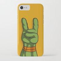 ninja turtle iPhone & iPod Cases featuring Teenage Mutant Ninja Turtle Hand by MONDOBITGO