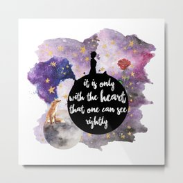 Little Prince With the Heart Metal Print