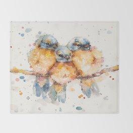 Little Bluebirds Throw Blanket
