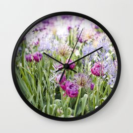 Spring Floral  //  The Botanical Series Wall Clock