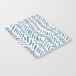 Sky blue and White Herringbone Pattern Notebook