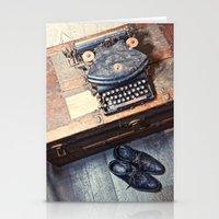 typewriter Stationery Cards featuring Typewriter by Shaun Lowe