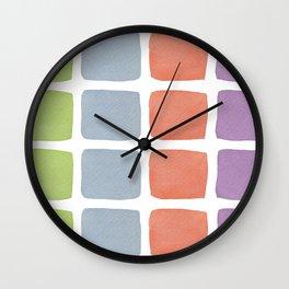 Watercolour Blocks 1 Wall Clock