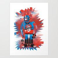 Punkbot! Art Print