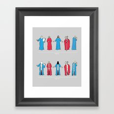 Historical Snuggie-Wearers Framed Art Print