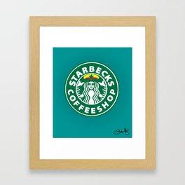 Starbecks Coffeeshop Framed Art Print