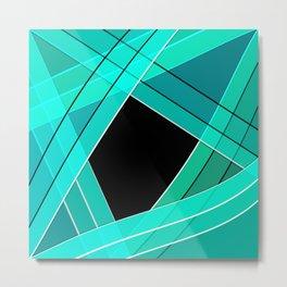 Turquoise silk Metal Print