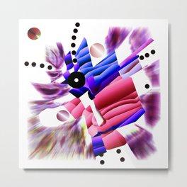 KO Pink and Blue Metal Print