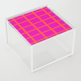 Alium 3 - Delayed Color Contrast Optical Illusion Grid Acrylic Box