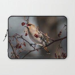 Cedar Waxwing Berry Flip Laptop Sleeve