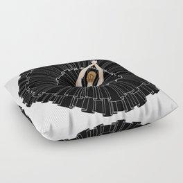 Black Ballerina Floor Pillow