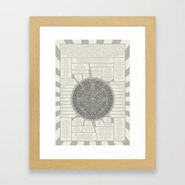 Aztec Calendar Stone Framed Art Print