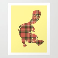Plaid-apus Art Print