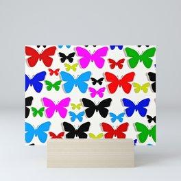 Butterfly Pretty Colors Pattern Mini Art Print