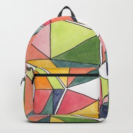 Geometric Abstract - Watermelon Backpack