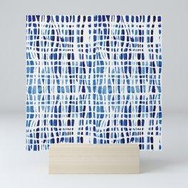 Shibori Braid Vivid Indigo Blue and White Mini Art Print
