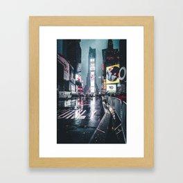 Neon Snowstorm Framed Art Print