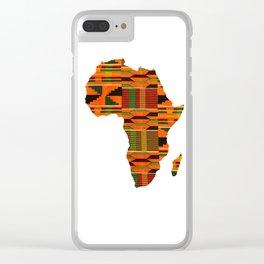 Kente Africa Clear iPhone Case