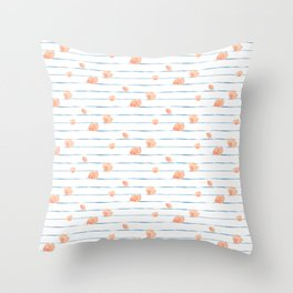 Bloomin' Blush Throw Pillow