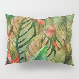 Painted Jungle Leaves 2 Pillow Sham