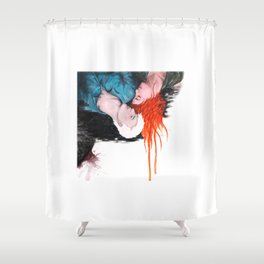 Lovelier when we fall Shower Curtain