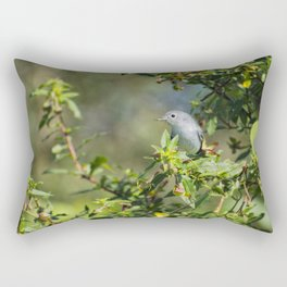 Blue-gray Gnatcatcher Rectangular Pillow