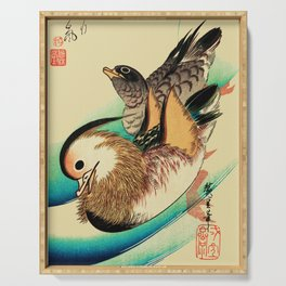 Mandarin Ducks - Vintage Japanese Art Serving Tray