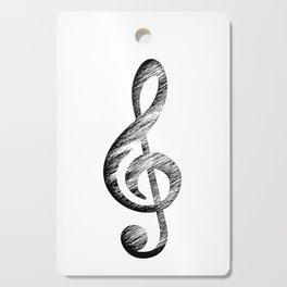 Distressed Music Clef Cutting Board