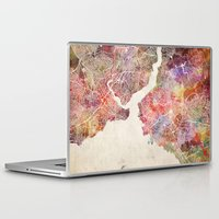 istanbul Laptop & iPad Skins featuring Istanbul by MapMapMaps.Watercolors