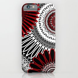 Red Mandala Love 3 iPhone Case