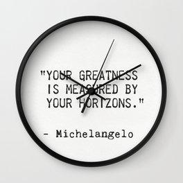 Michelangelo quote 5 Wall Clock