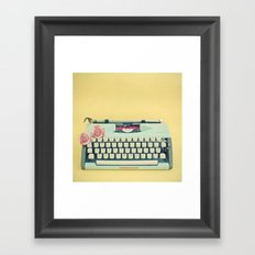 The Typewriter Framed Art Print