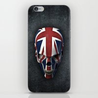 british flag iPhone & iPod Skins featuring British horror by GrandeDuc